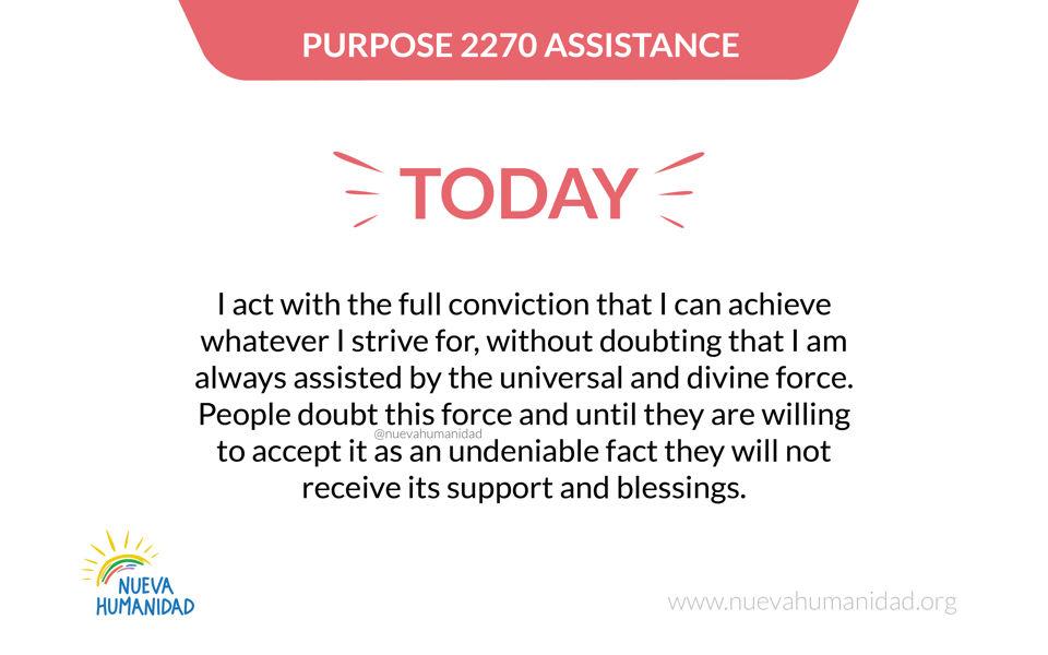 Purpose 2270 assistance