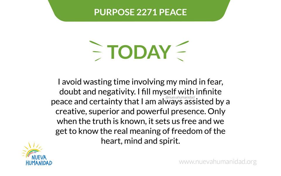 Purpose 2271 Peace