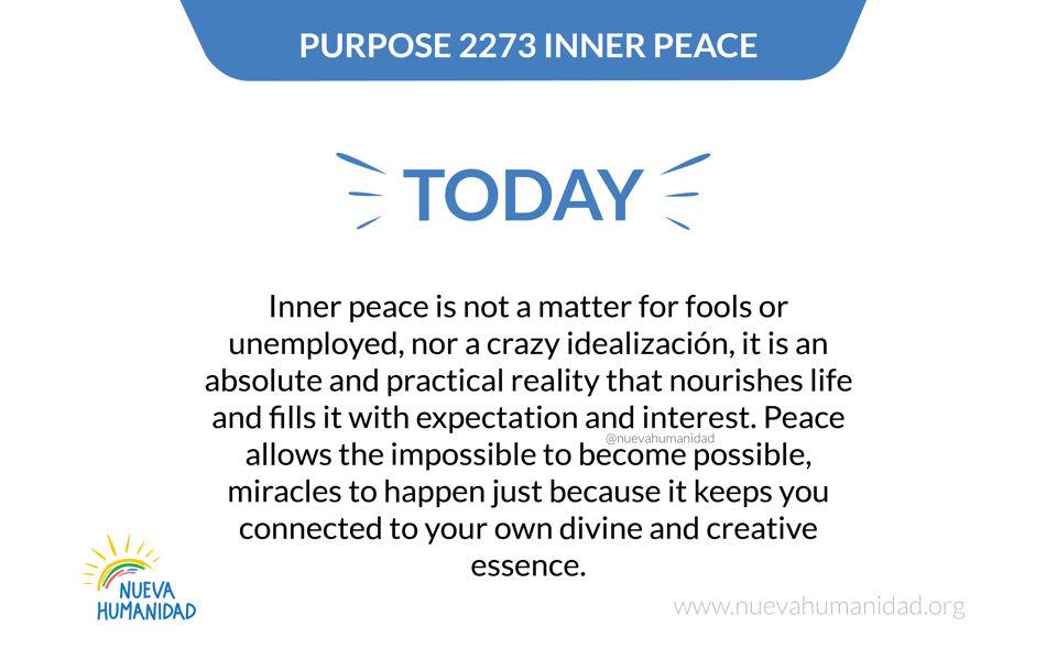 Purpose 2273 Inner peace