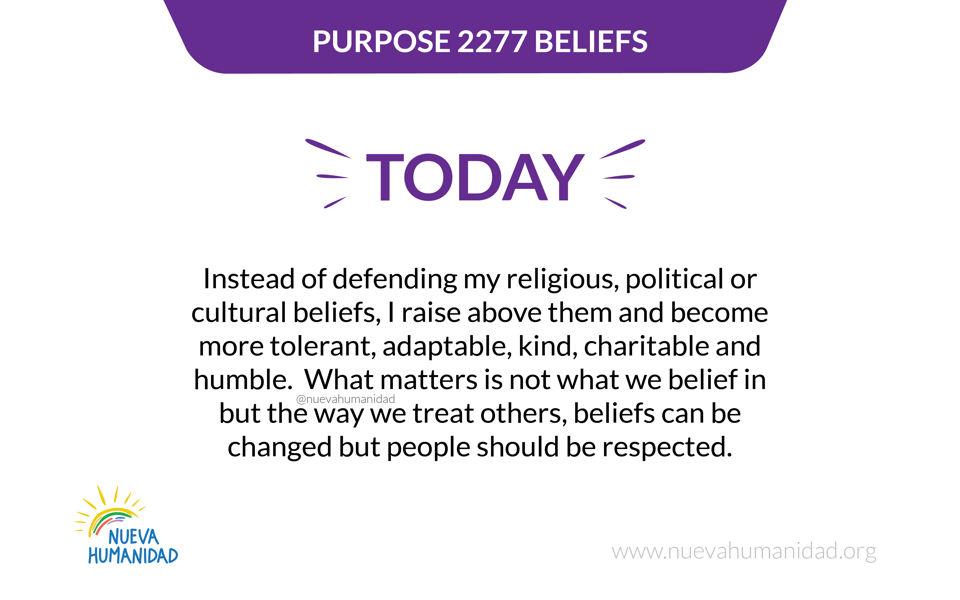 Purpose 2277 Beliefs