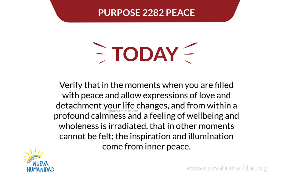 Purpose 2282 Peace