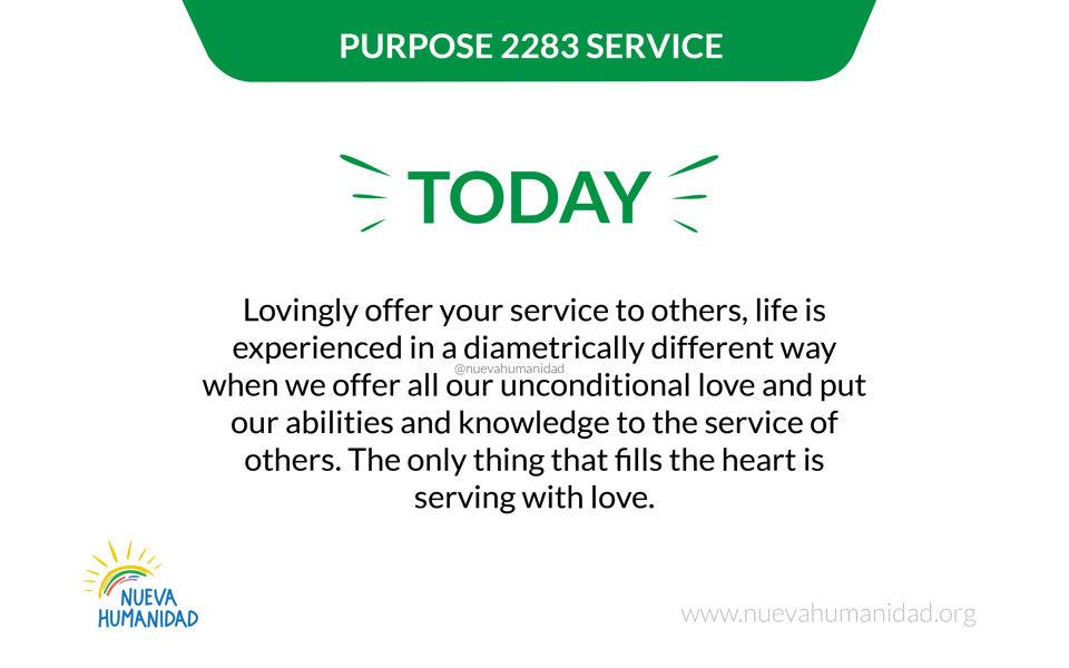 Purpose 2283 Service