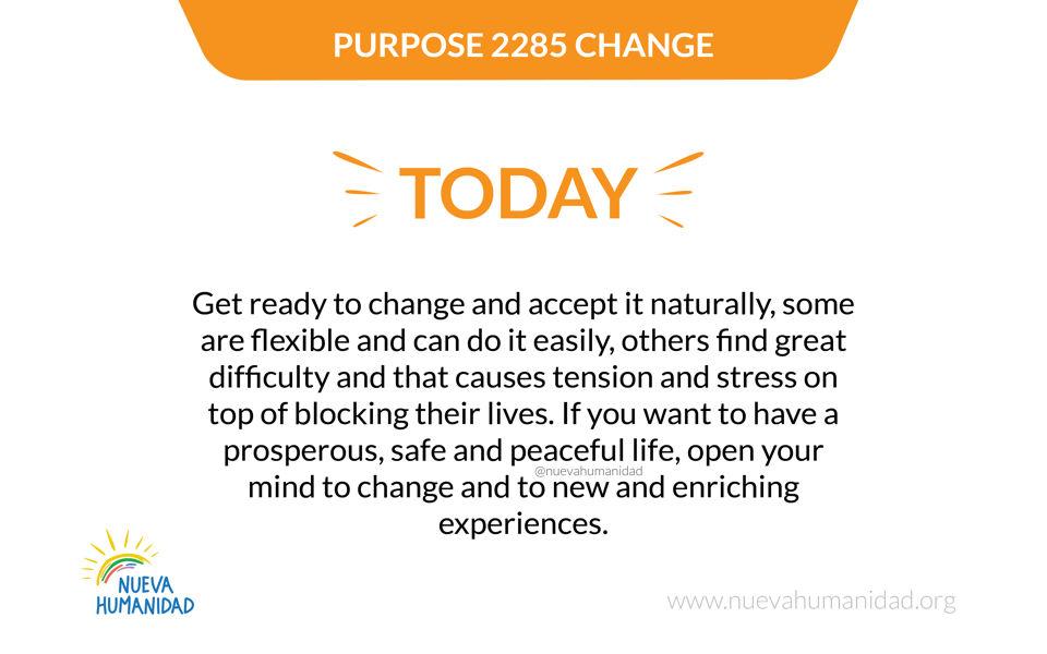 Purpose 2285 Change