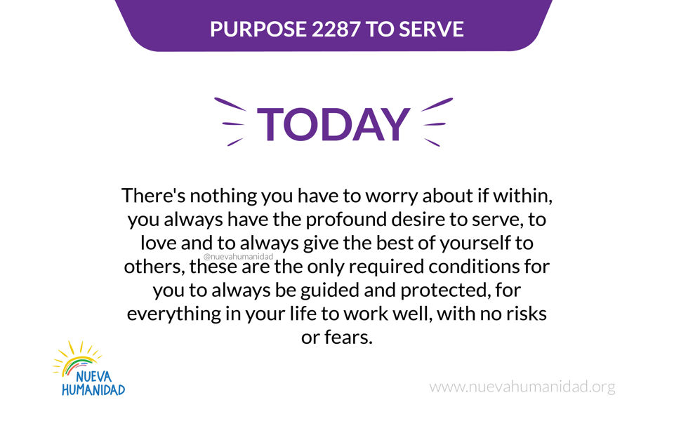 Purpose 2287 To serve