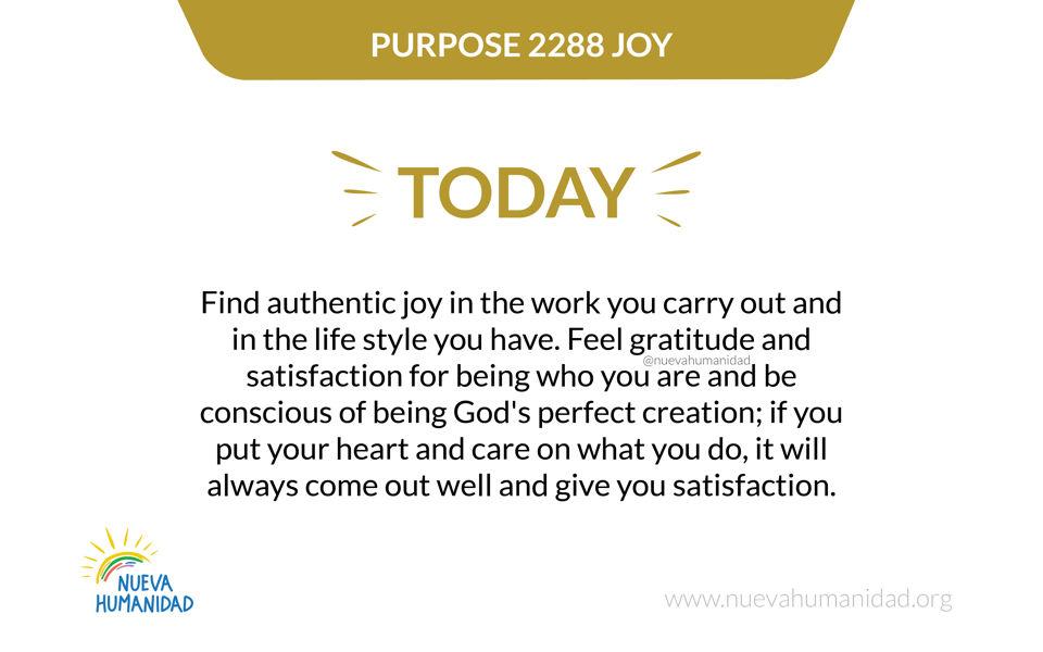 Purpose 2288 Joy