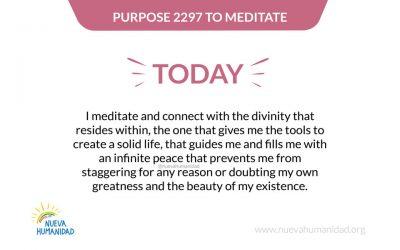 Purpose 2297 To meditate
