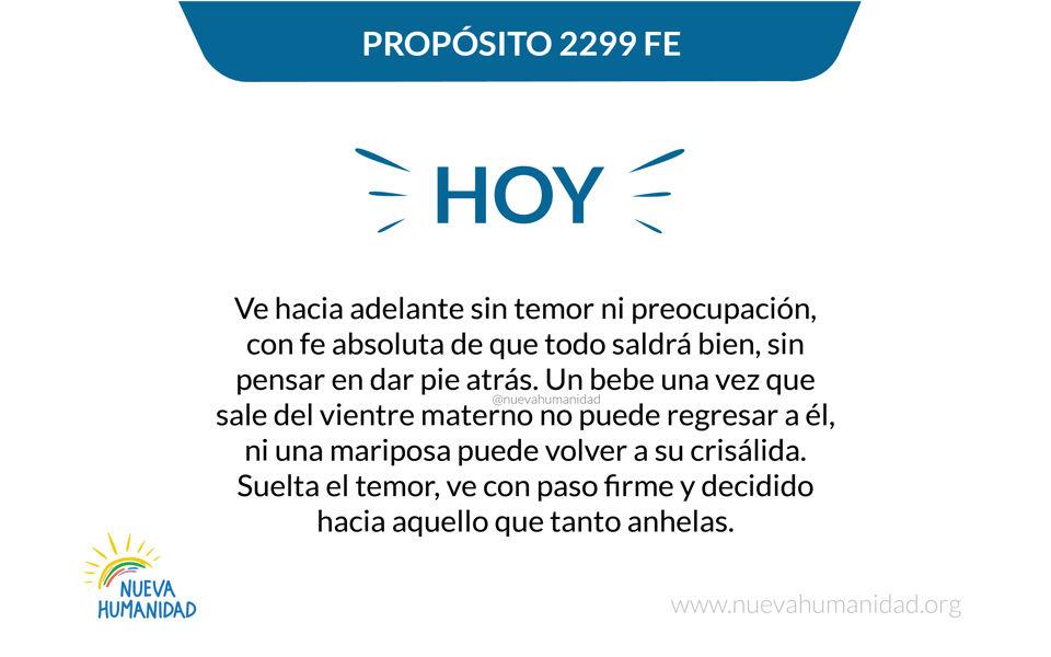Propósito 2299 Fe