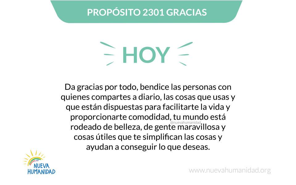 Propósito 2301 Gracias
