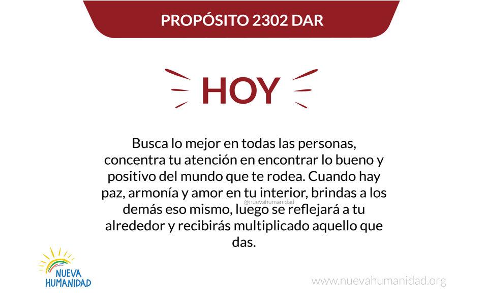 Propósito 2302 Dar