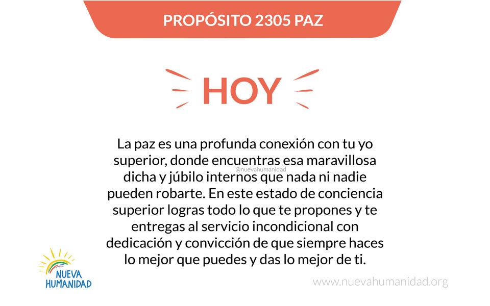 Propósito 2305 Paz