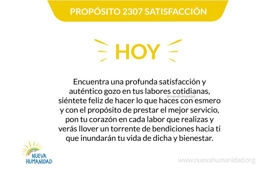 Propósito 2307 Satisfacción