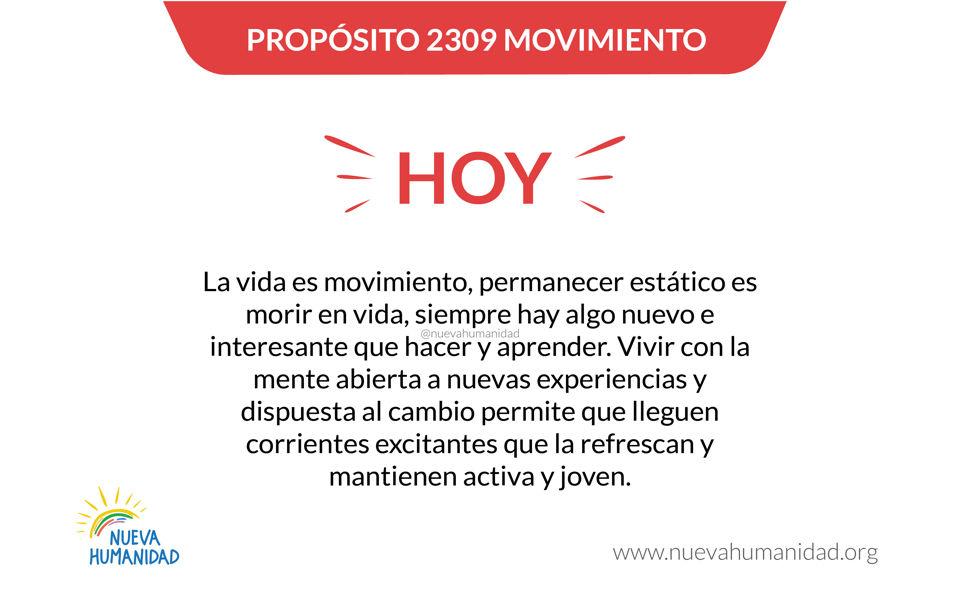 Propósito 2309 Movimiento