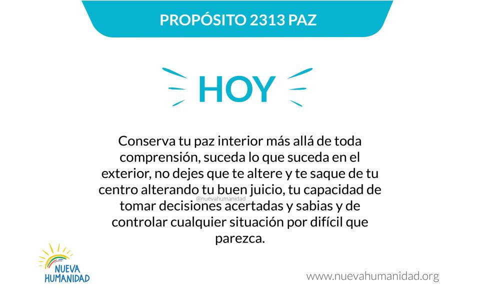 Propósito 2313 Paz