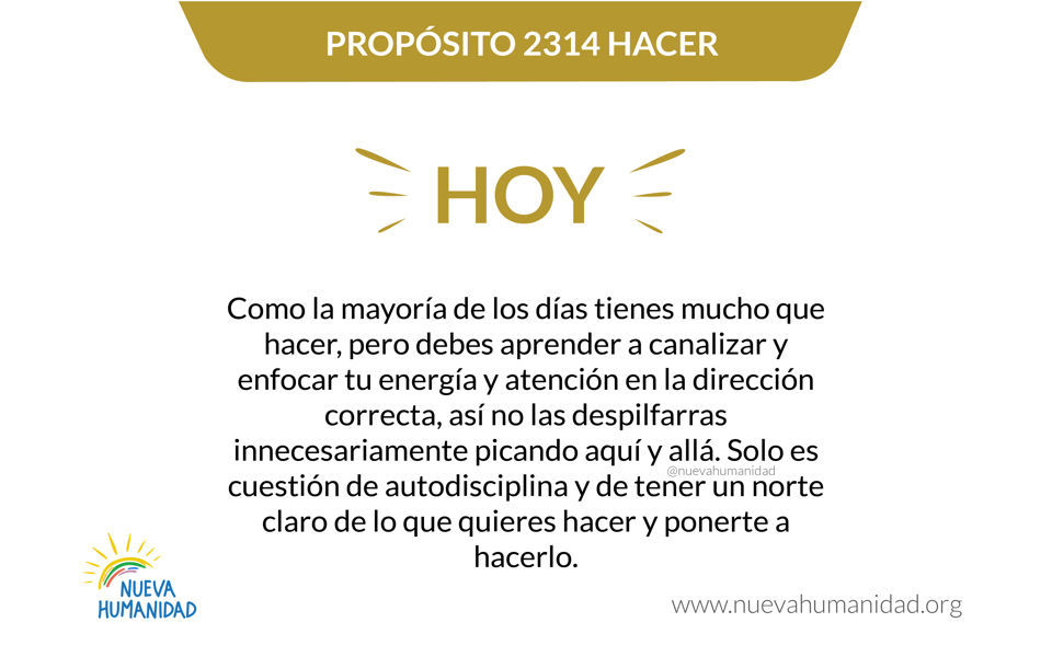 Propósito 2314 Hacer