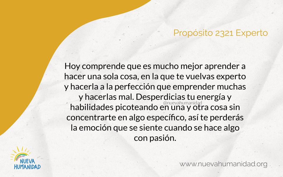 Propósito 2321 Experto