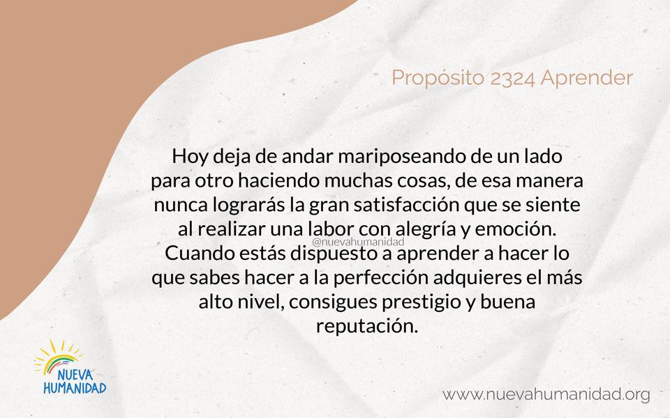 Propósito 2324 Aprender