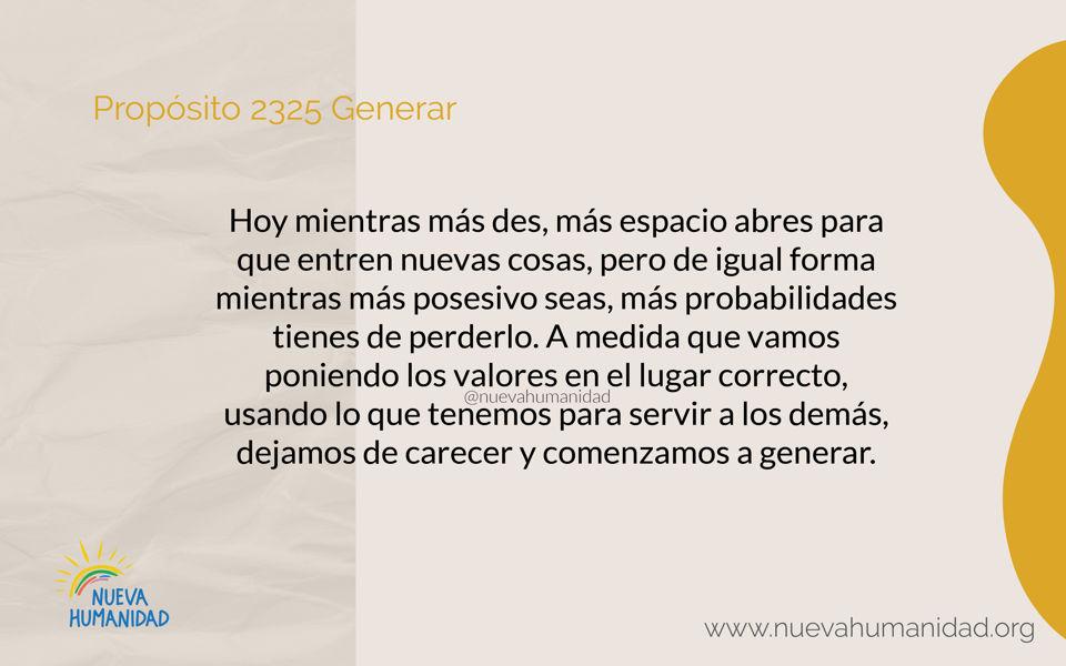 Propósito 2325 Generar