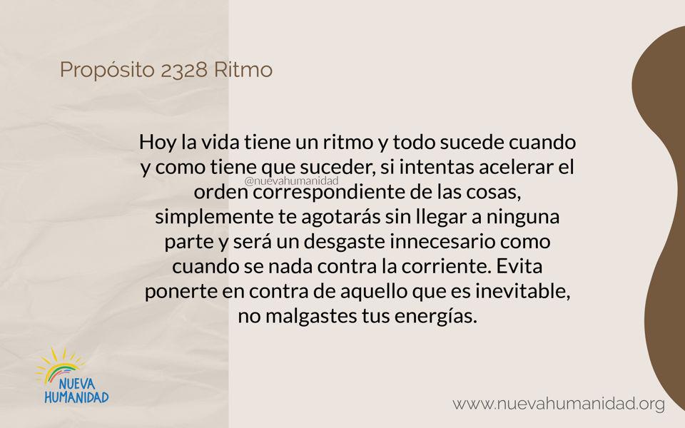 Propósito 2328 Ritmo