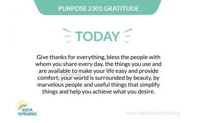 Purpose 2301 Gratitude