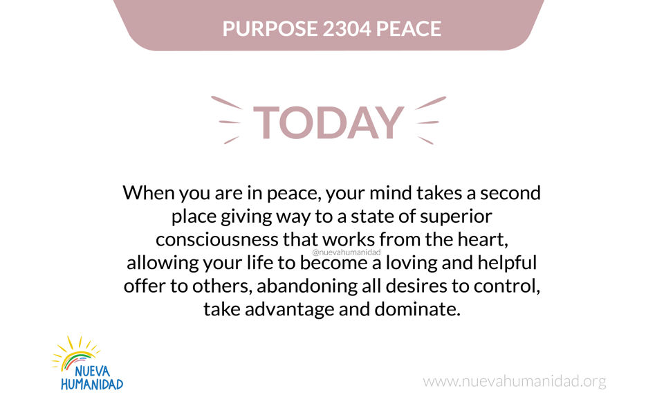 Purpose 2304 Peace