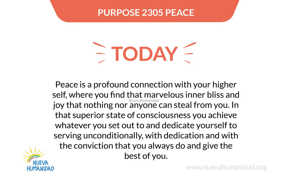 Purpose 2305 Peace