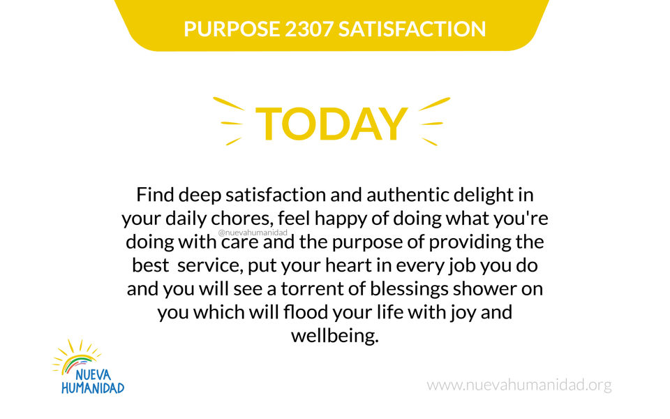 Purpose 2307 Satisfaction