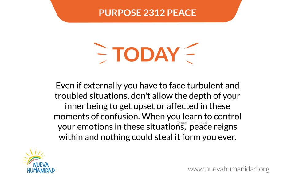 Purpose 2312 Peace