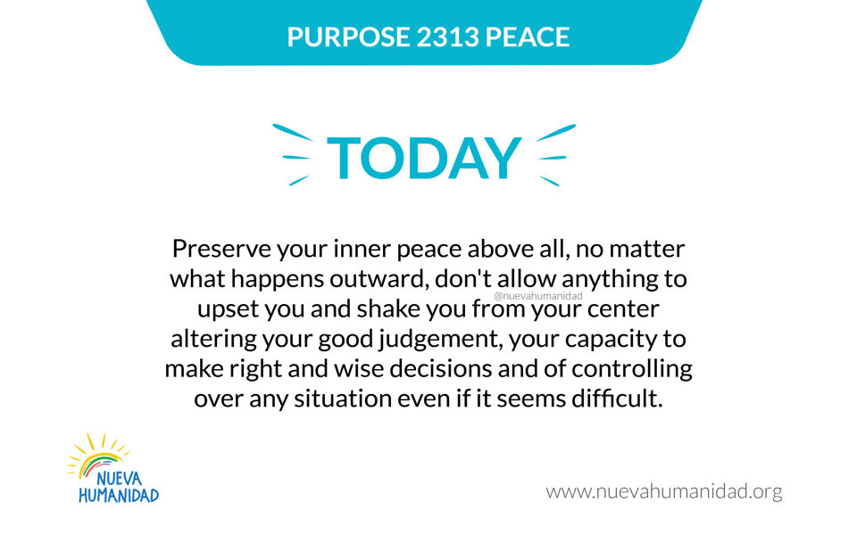 Purpose 2313 Peace