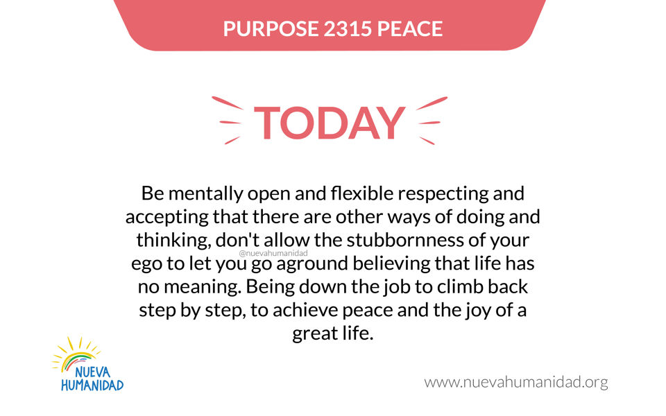 Purpose 2315 Peace