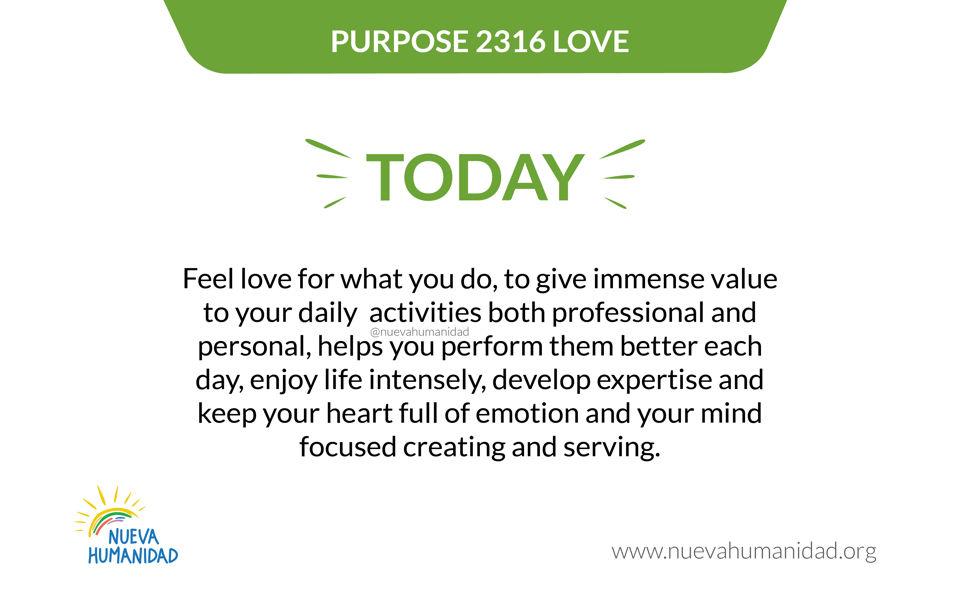 Purpose 2316 Love