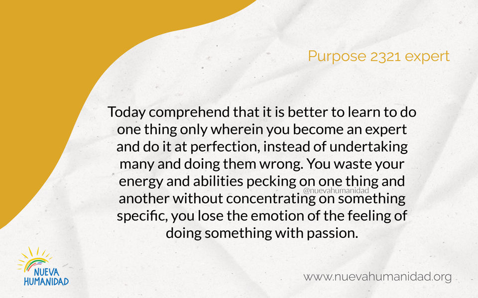 Purpose 2321 Expert