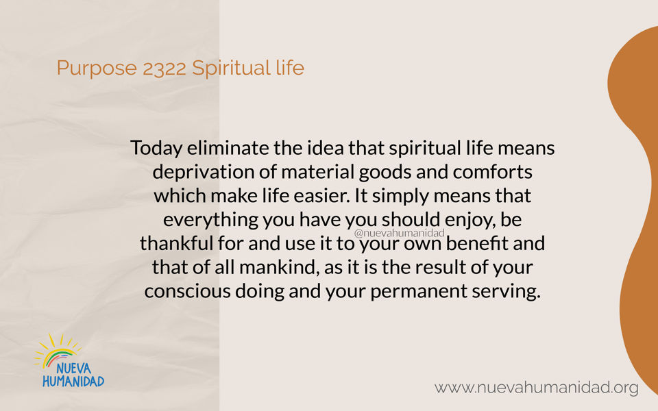 Purpose 2322 Spiritual life