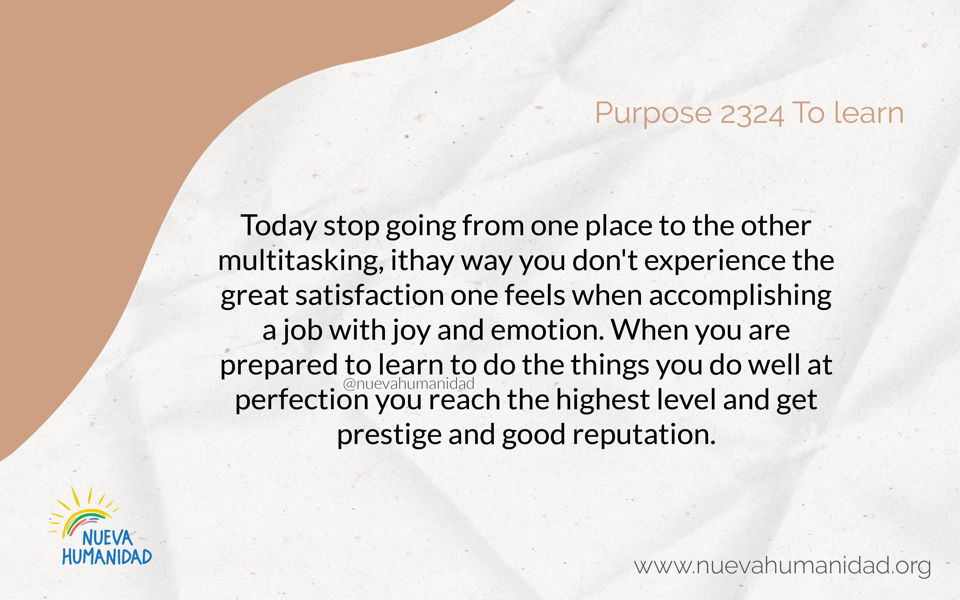 Purpose 2324 To learn