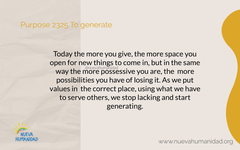 Purpose 2325 To generate