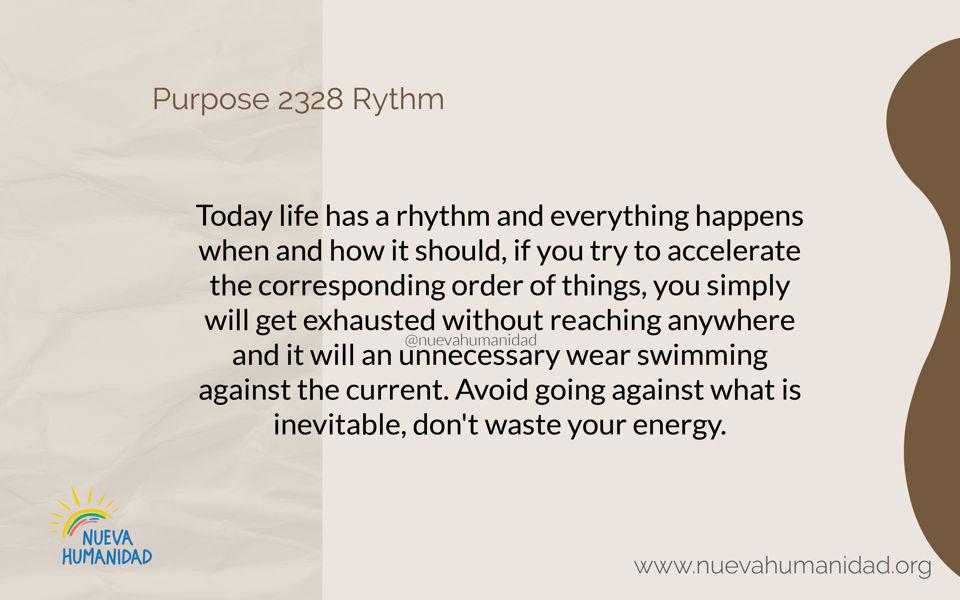 Purpose 2328 Rythm
