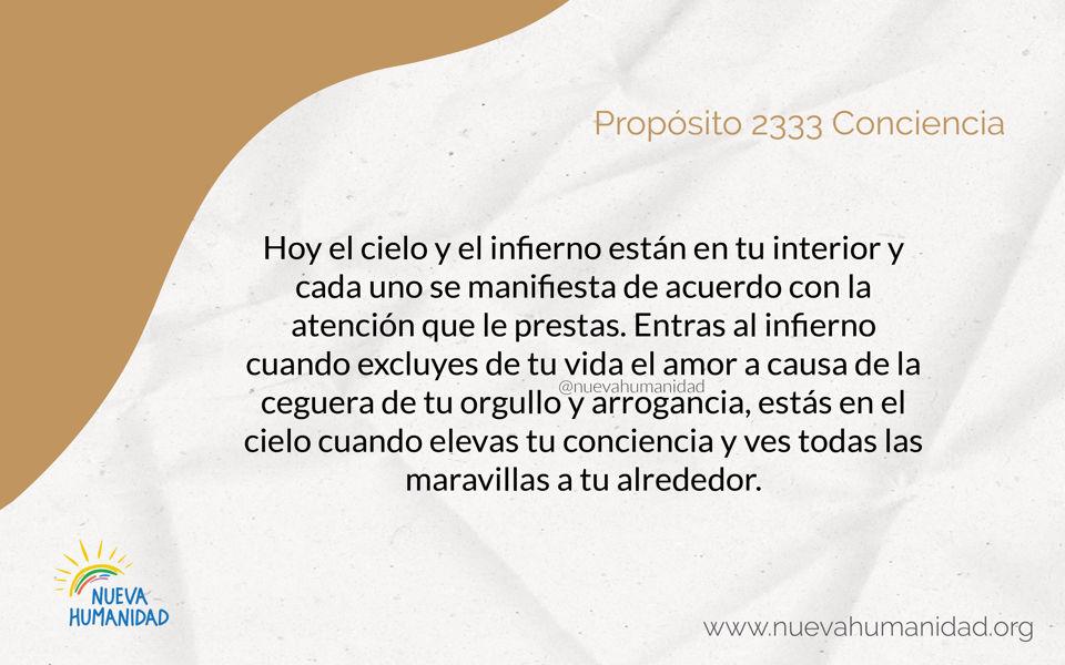 Propósito 2333 Conciencia