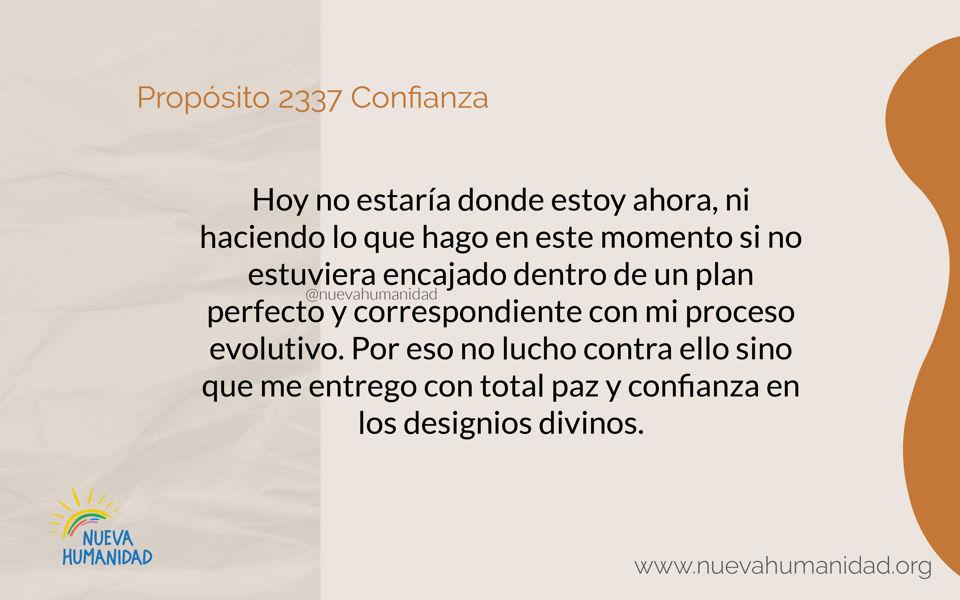 Propósito 2337 Confianza