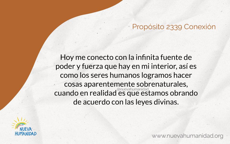 Propósito 2339 Conexión