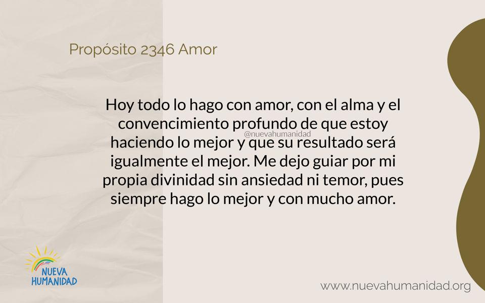 Propósito 2346 Amor