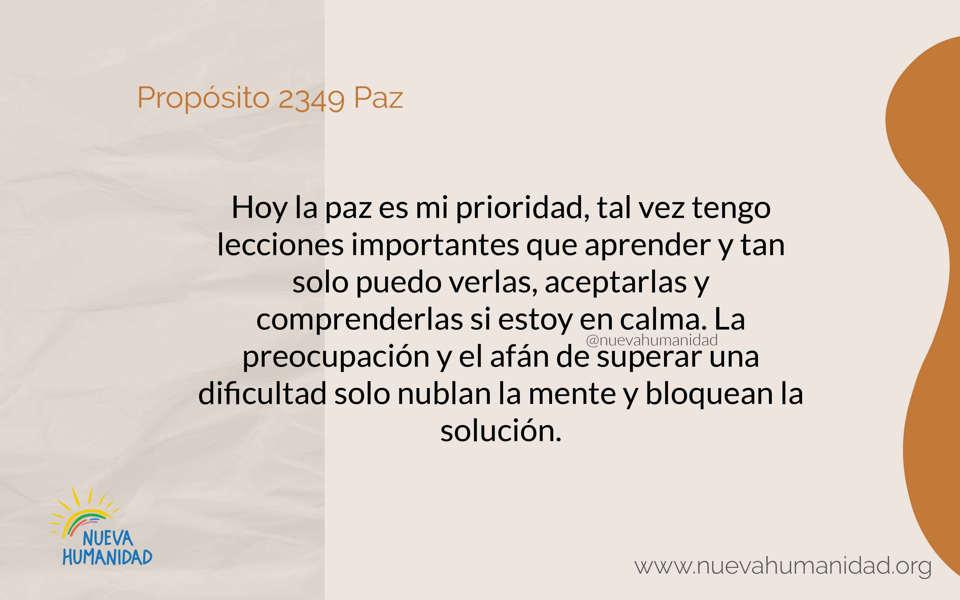 Propósito 2349 Paz
