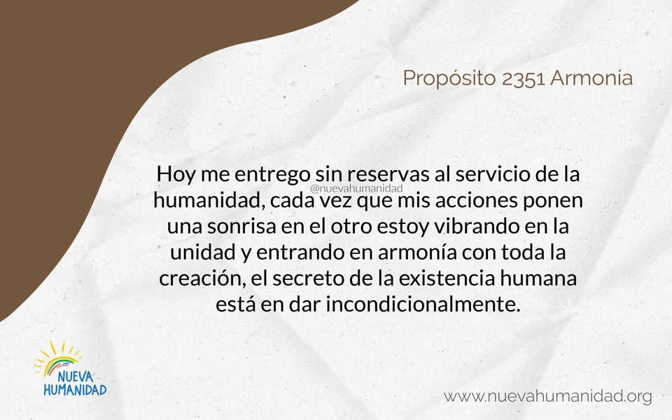 Propósito 2351 Armonía