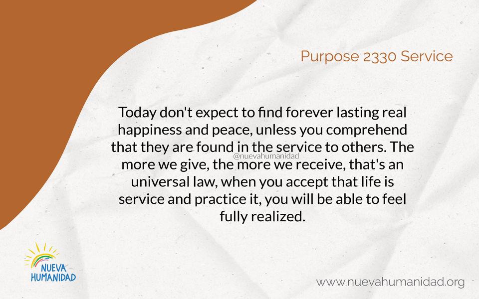 Purpose 2330 Service