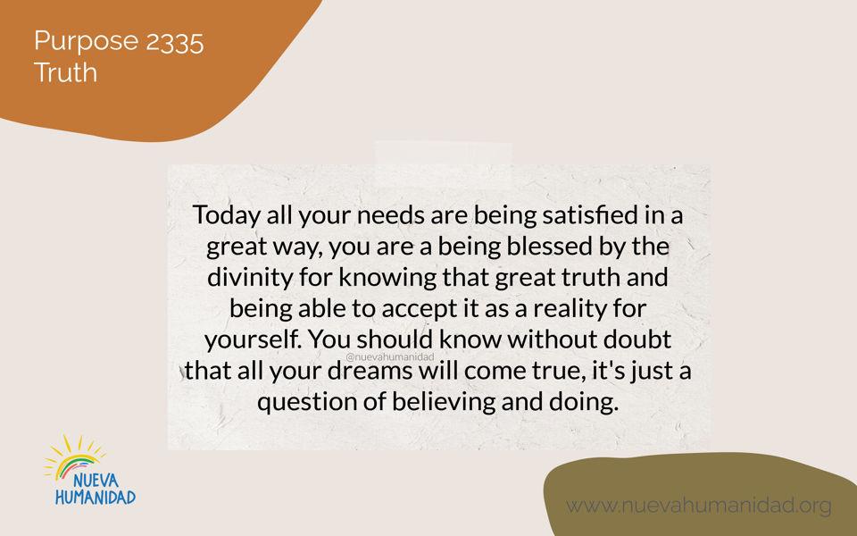 Purpose 2335 Truth