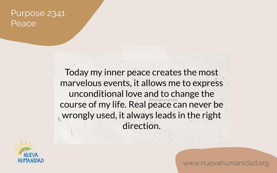 Purpose 2341 Peace