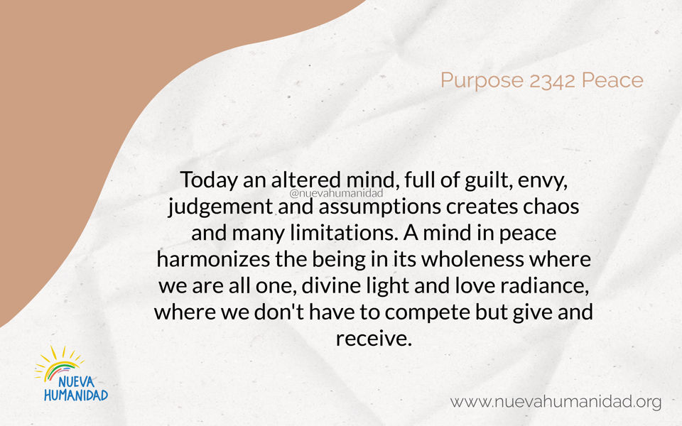 Purpose 2342 Peace