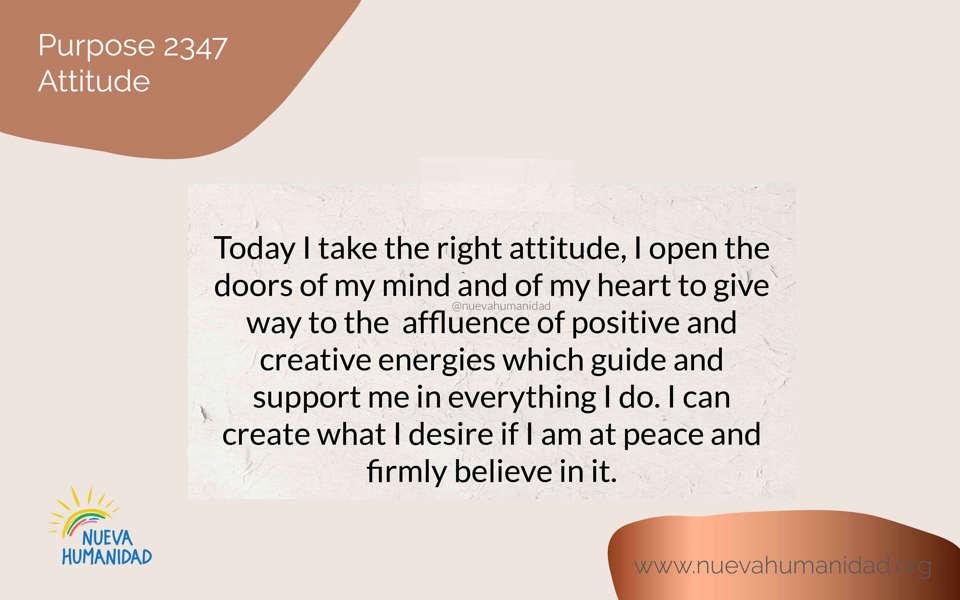Purpose 2347 Attitude