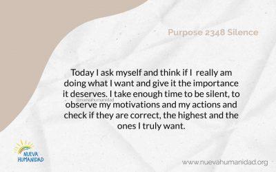 Purpose 2348 Silence
