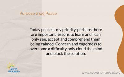 Purpose 2349 Peace