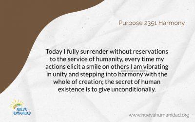 Purpose 2351 Harmony