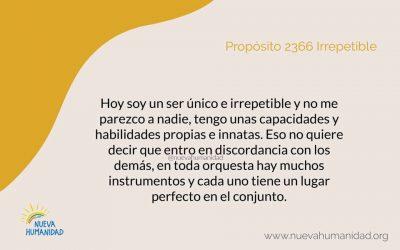 Propósito 2366  Irrepetible